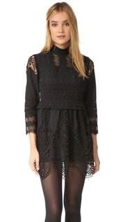 Кружевное платье-туника с вышивкой в викторианском стиле Anna Sui
