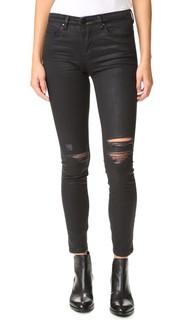 Рваные джинсы с покрытием Blank Denim