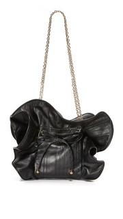 Маленькая кожаная сумка Lilly со складками Nina Ricci