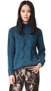Связанный косичками свитер Otto Dame