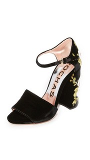 Туфли на каблуках с вышивкой Rochas