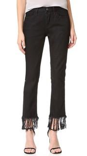 Прямые укороченные джинсы WM3 с бахромой 3x1
