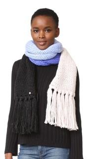 Теплый шарф из толстого трикотажа с цветными блоками Kate Spade New York