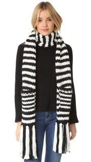 Объемный шарф в полоску Kate Spade New York