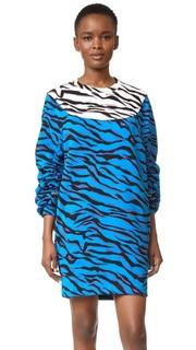 Платье-толстовка в тигровую полоску Kenzo