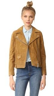 Байкерская куртка из замши Madewell