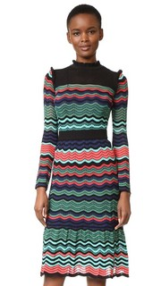 Миди-платье с оборками у выреза M Missoni