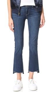 Узкие укороченные расклешенные джинсы Riley Paige