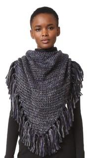 Треугольный шарф из объемного меланжевого материала Rebecca Minkoff