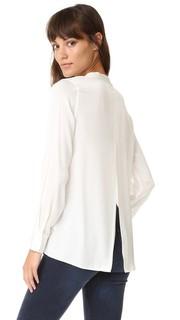 Блуза с разрезом сзади Vince
