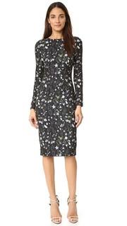 Платье-футляр в пасторальном стиле с цветочным рисунком Cynthia Rowley