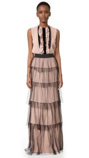 Вечернее платье с оборками No. 21