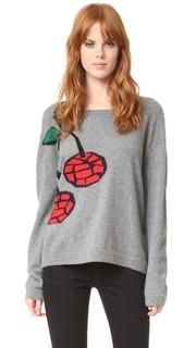 Кашемировый свитер с рисунком в виде вишен Natasha Zinko
