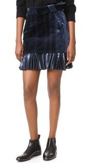 Скульптурная юбка из бархата со складками на подоле 3.1 Phillip Lim