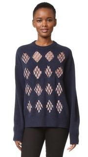 Пуловер с сетчатой отделкой Alexander Wang