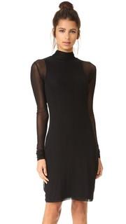 Многослойное платье с лифом из сеточки BLK DNM