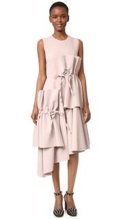 Миди-платье с завязками Msgm