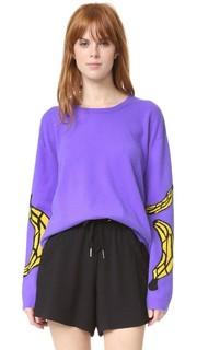 Кашемировый свитер с изображениями бананов Natasha Zinko