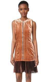 Скульптурное бархатное платье с плиссированным подолом 3.1 Phillip Lim