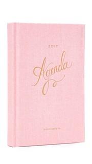 Органайзер розового цвета на 2017 г. Rifle Paper Co