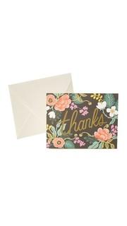 Благодарственные открытки Birch с цветочным рисунком Rifle Paper Co