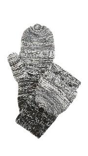 Меланжевые перчатки с накладным элементом и эффектом деграде Rebecca Minkoff