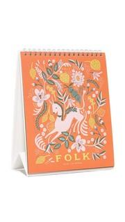 Настольный календарь на 2017 год с рисунками в стиле народного творчества Rifle Paper Co