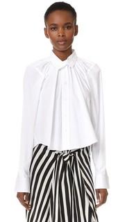 Укороченная объемная рубашка со сборками Tome