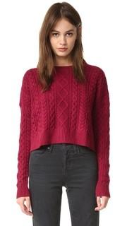Укороченный свободный свитер Fisherman Autumn Cashmere
