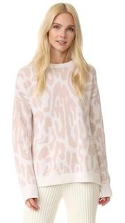 Кашемировый свитер с леопардовым рисунком Baja East