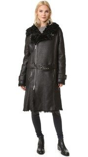 Кожаное пальто 21 BLK DNM