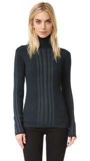 Пуловер из рубчатого трикотажа с воротником под горло Dkny