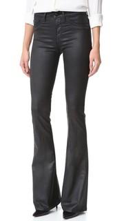 Меланжевые расклешенные джинсы с высокой посадкой Dl1961