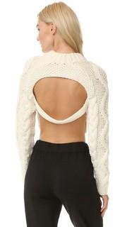 Укороченный пуловер с открытой спиной Dkny