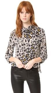 Укороченная фирменная блуза с рукавами три четверти Equipment