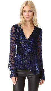 Блуза с глубоким V-образным вырезом J. Mendel