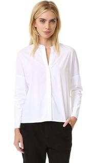 Двуслойная трикотажная футболка с длинными рукавами James Perse