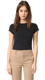 Облегающая классическая футболка с округлым вырезом James Perse