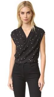 Блузка T Lee с перекрещенными вставками спереди Lagence