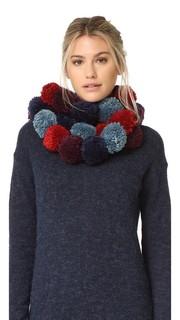 Разноцветный шарф из помпонов Rebecca Minkoff