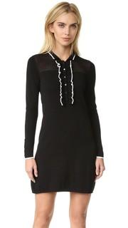 Трикотажное платье Jenny с оборками Shoshanna