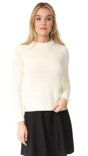 Укороченный свитер Boska из узелковой ткани Theory