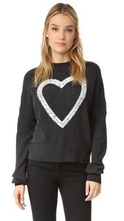 Кашемировый свитер с сердцем из блесток Wildfox