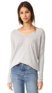 Кашемировый свитер с вышитой надписью «XO» Wildfox