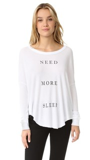 Теплая футболка More Sleep Wildfox