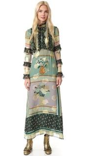 Макси-платье Bouquet в лоскутной технике Anna Sui