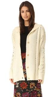 Толстовка с капюшоном Blanket из трикотажа вязки косичками Wildfox