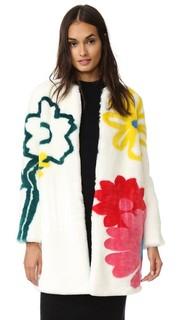 Пальто из искусственного меха Happy Flowers Mira Mikati