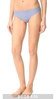 Однотонные трусики-танга Invisibles Calvin Klein Underwear
