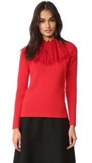 Трикотажный пуловер с длинными рукавами Nina Ricci
